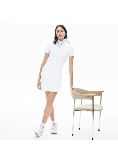 Lacoste Kadın Polo Tişört EF5473.001 Beyaz
